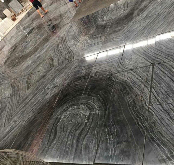 Silver Black Wave Marble is a kind of multicolor marble quarried in China
