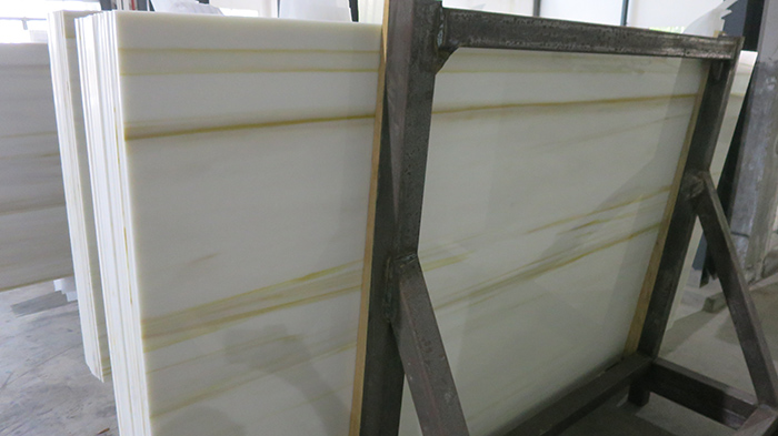Wood Gold color Nano Crystallized Glass Slabs